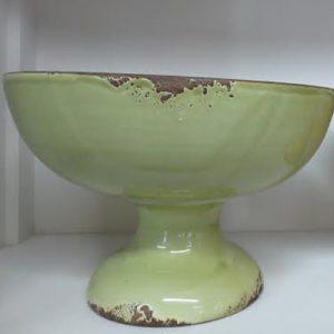 Fruttiera alzata color verde