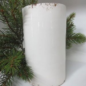 Vaso cilindrico bianco