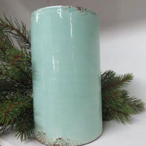 Vaso cilindrico verde