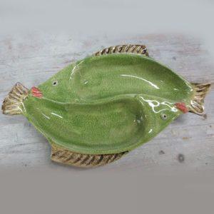Antipastiera 2 scomparti forma pesce