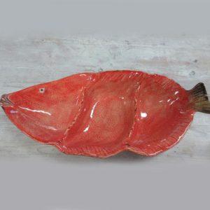 Antipastiera 3 scomparti forma pesce