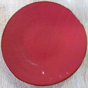 Piatto frutta rosso da tavola