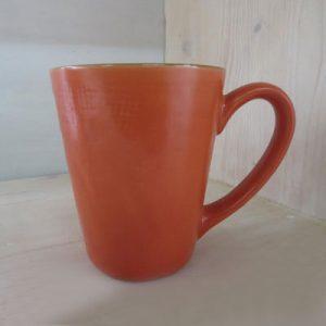 Bicchiere arancione con manico