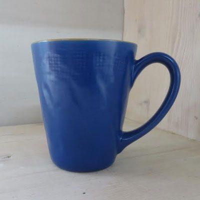 Bicchiere colore blu con manico