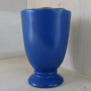 Bicchiere calice colore blu interno giallo