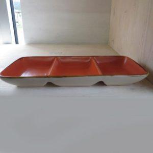 Antipastiera arancione 3 scomparti