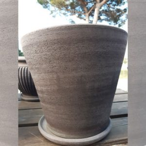 Vaso grigio conico